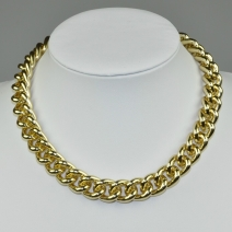 Vintage Collier & Armband gelb-gold Set